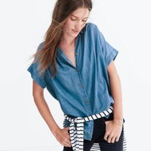 Madewell Central Shirt in Bright Indigo XXS